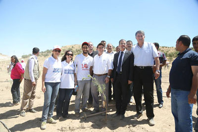 YES Alumni plant 10,000 trees with U S  Ambassador to Jordan