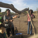 Alima  Mwemerabugabo '08 Helping Kids To Draw Water From The Village Well