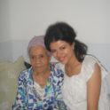 Waad  Kahouli '10 With An Elderly Resident At The Nursing Home She Visited In The Town Of  Gafsa