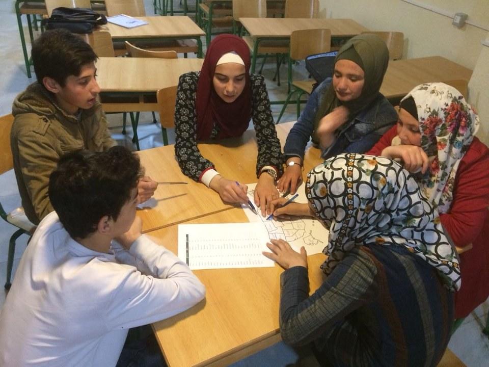 6  Lebanon 1 Students Working