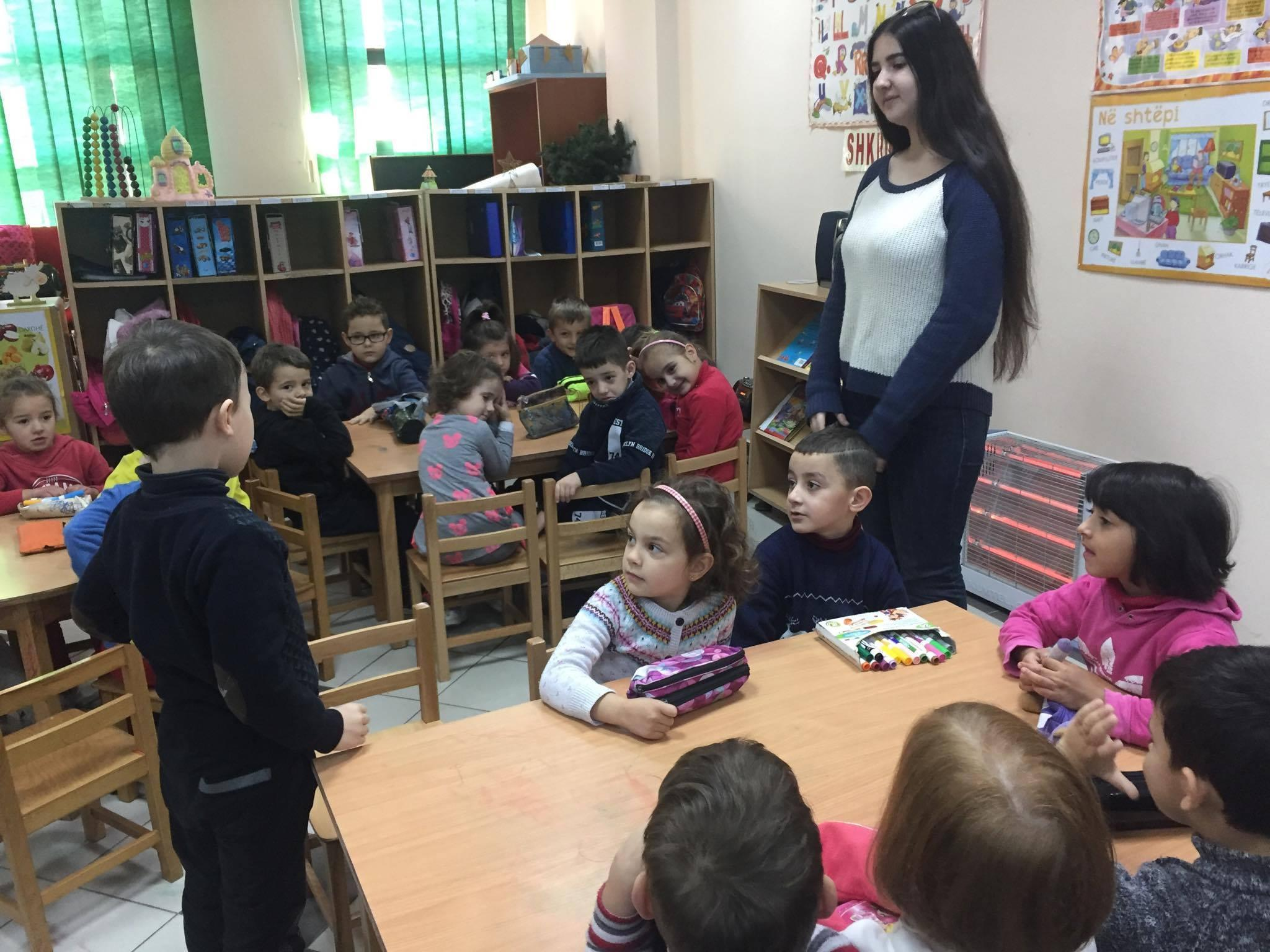 Albania Dea Shehu Yes Program 2017 Placed By Aces In Elkhart Indiana Holding Her First Activity At A Pre Elementary School