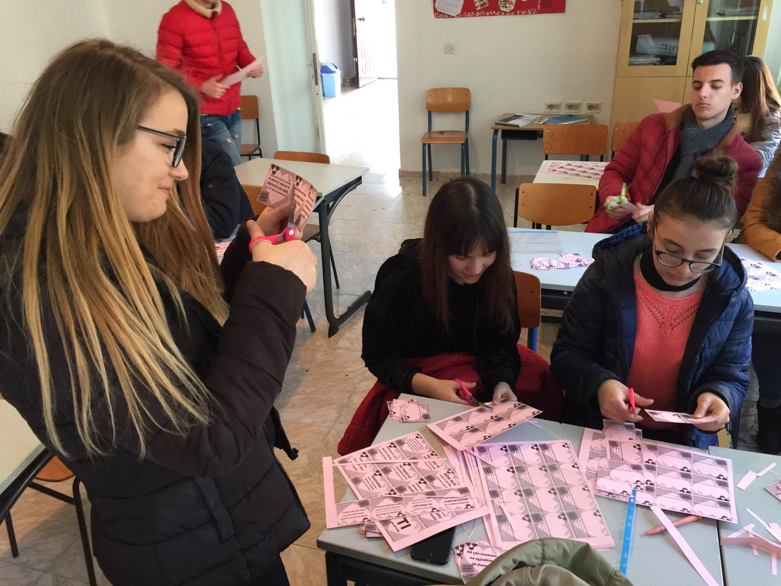 Albania Valentines Day Card Preparations