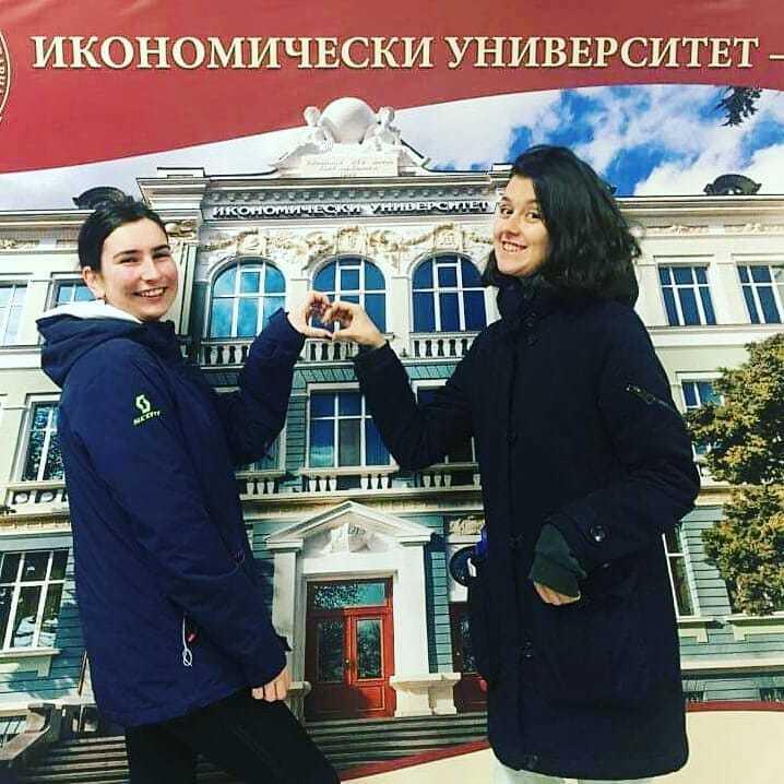 Bulgaria Varna Milena Ivanova And Vyara Nikolova On Their Visit To A University In Varna Monthly Meeting