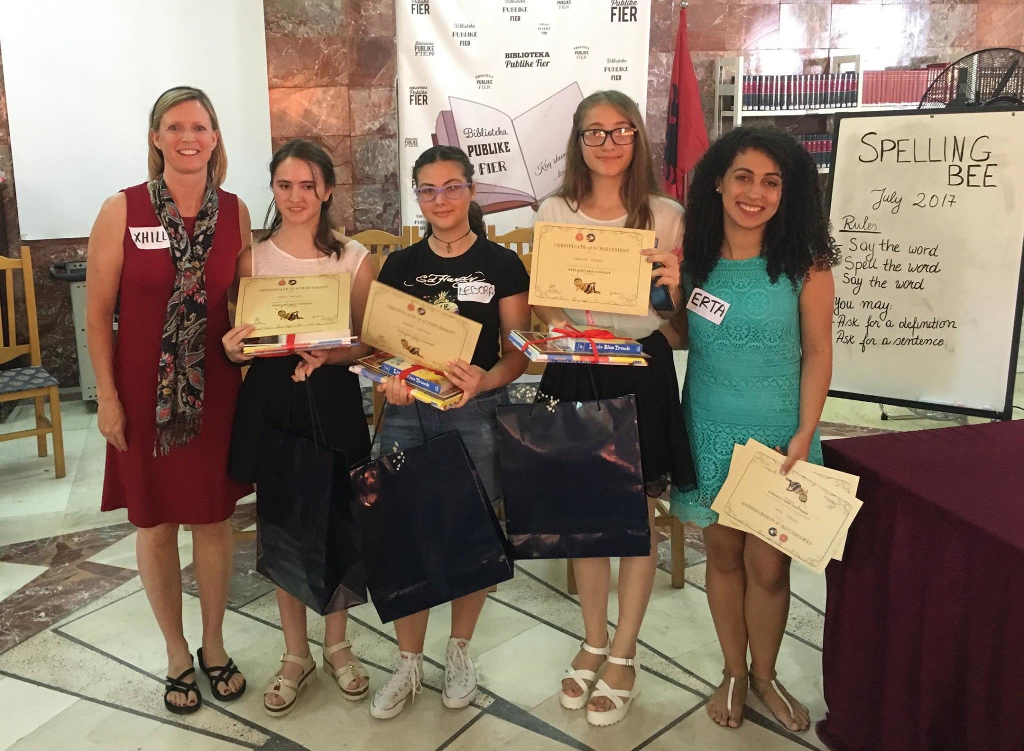 Erta Prifti And Spelling Bee Winners