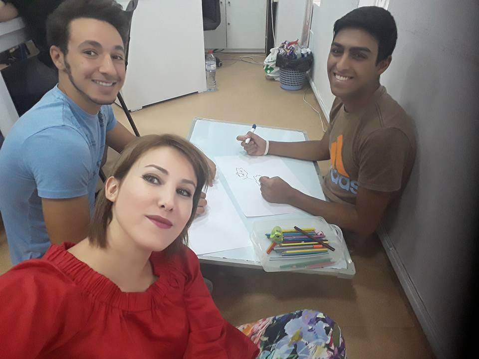 Fradj Frad Tunisia With American Corner Staff