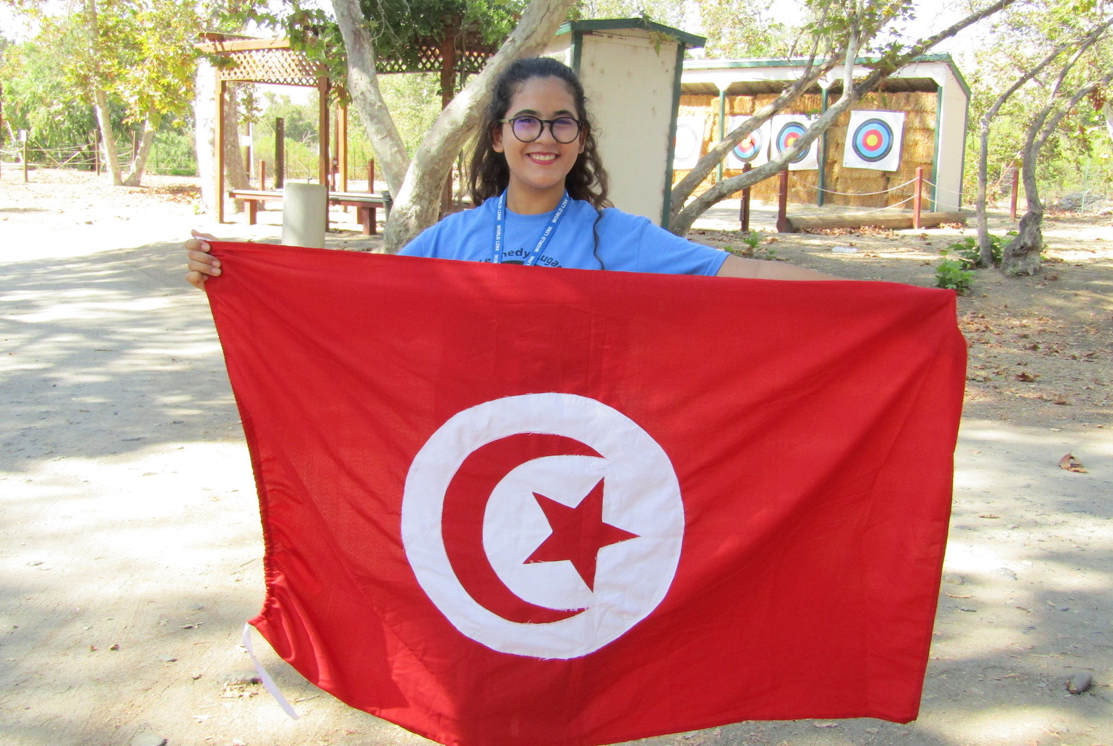 Hiba With Flag Orientation