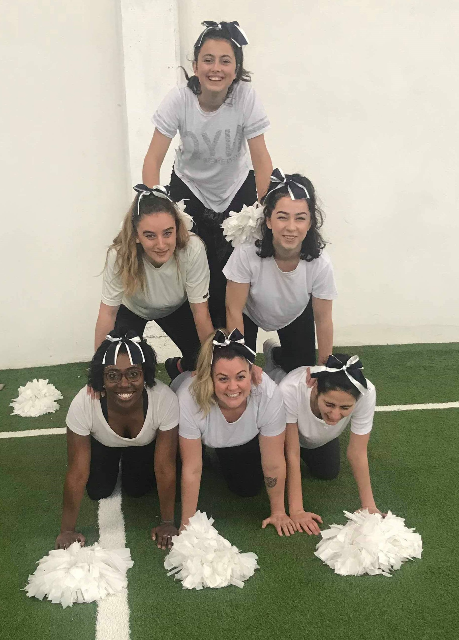 Kosova Cheerleading Students During The Thanksgiving Football Game