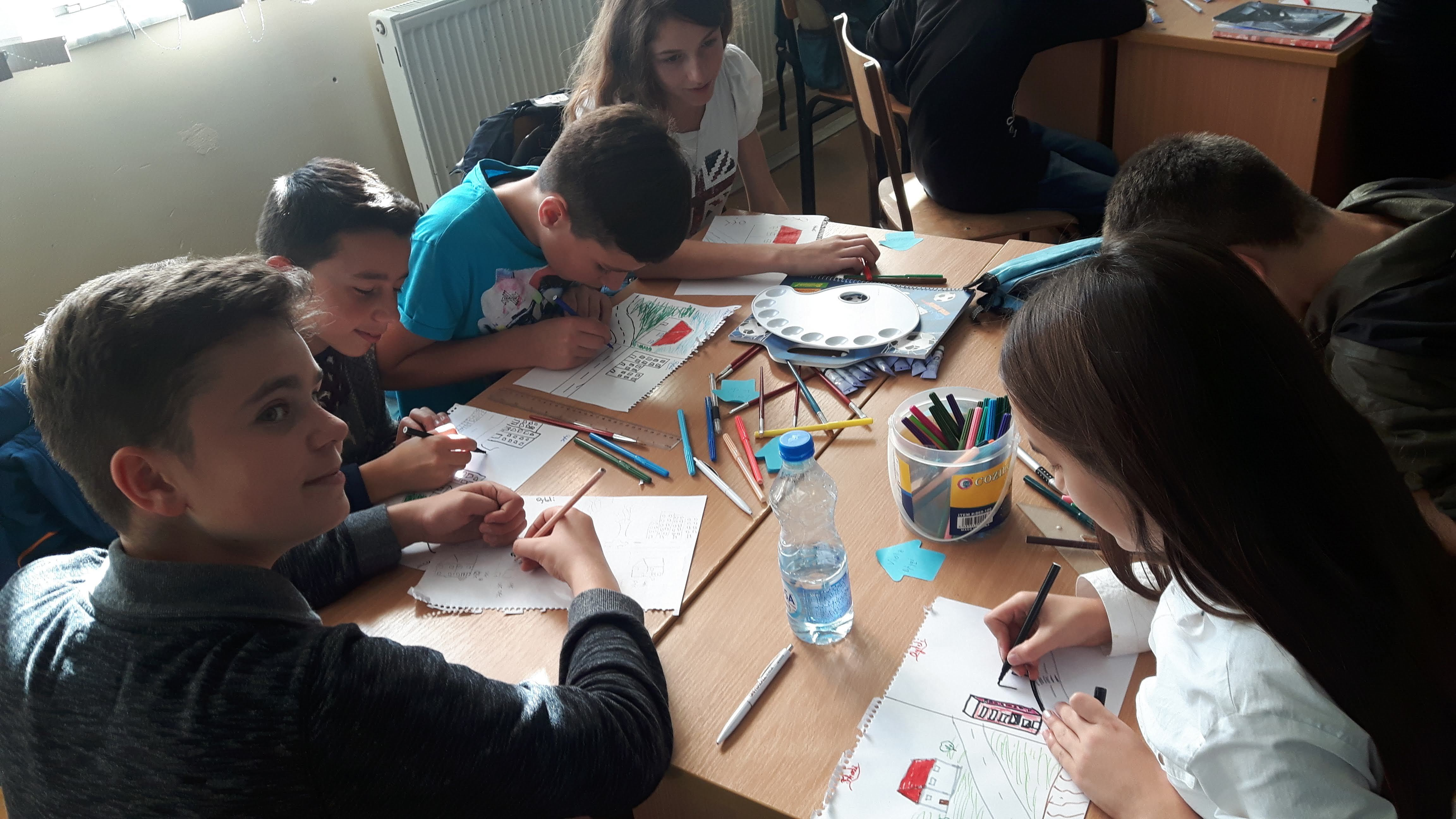 Kosova Students Painting The Issues That They See In Their Community