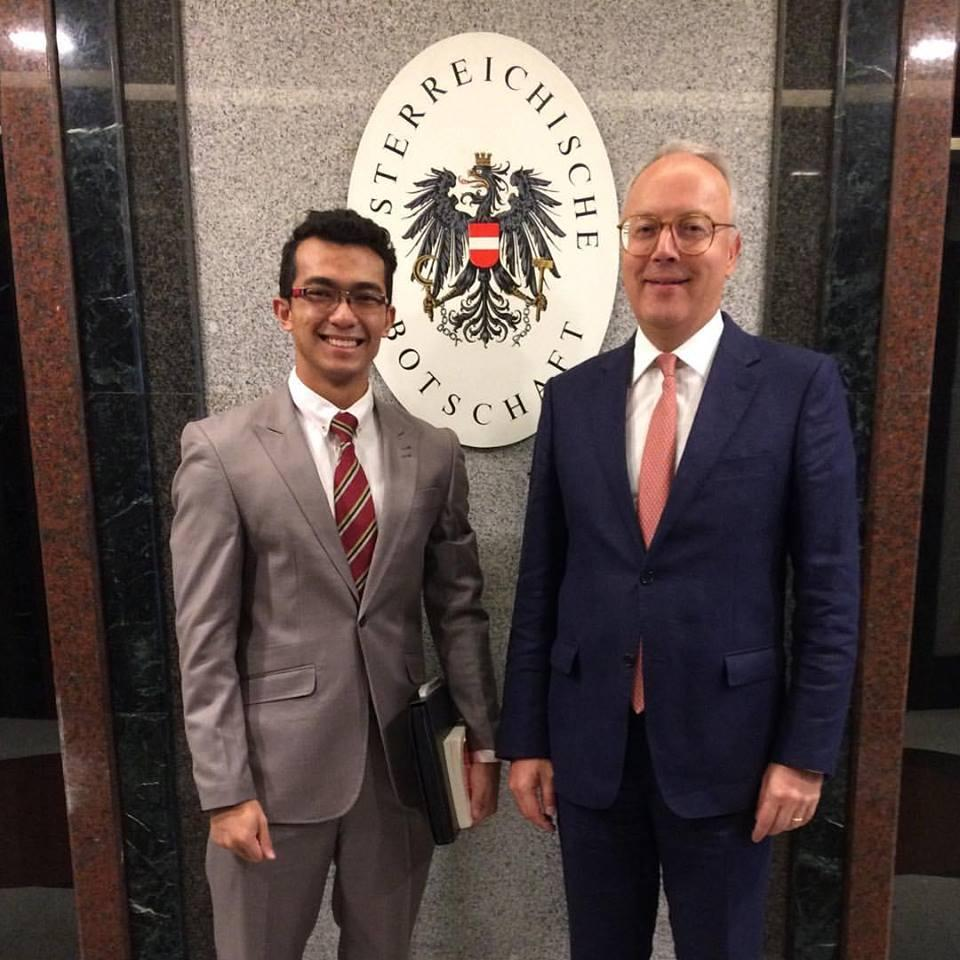 Mas Shak Shahrul With Ambassador Of Austria