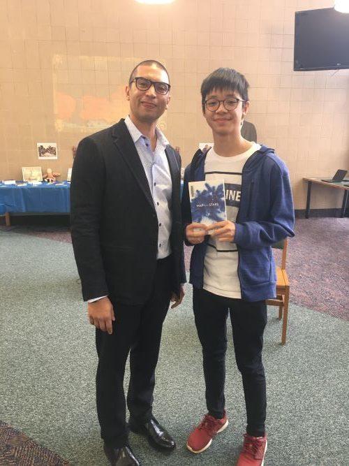 Mas Zac Wong And Indiana Poet Laureate Adrian Matejka