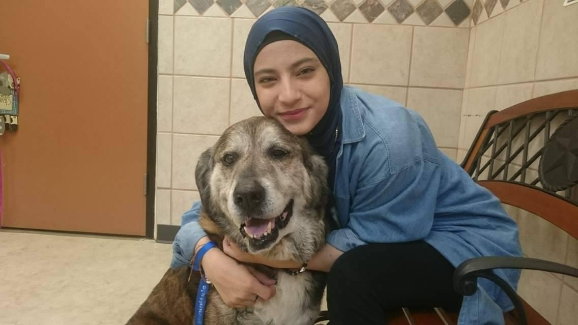 Maya Al Abdallah Lebanon 17 With Dog