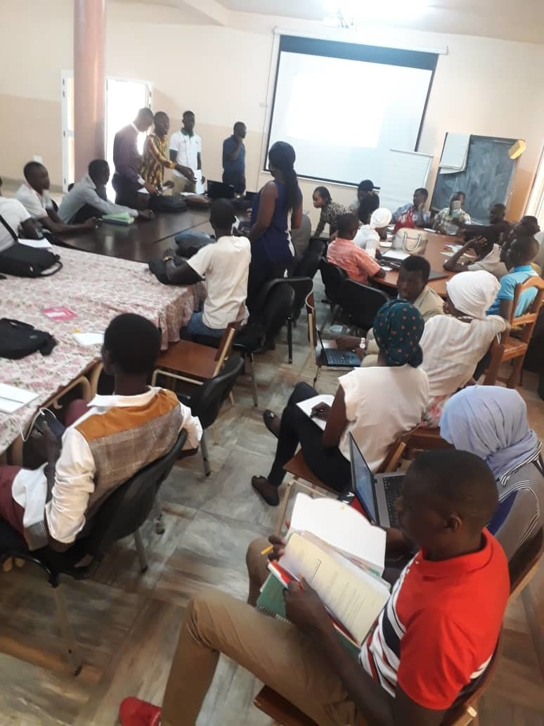 Participants During The Project Planning And Implementation Training Organised By Alumna Farma Maiga Yes 15 And The Universitys Entrepreneurial Club