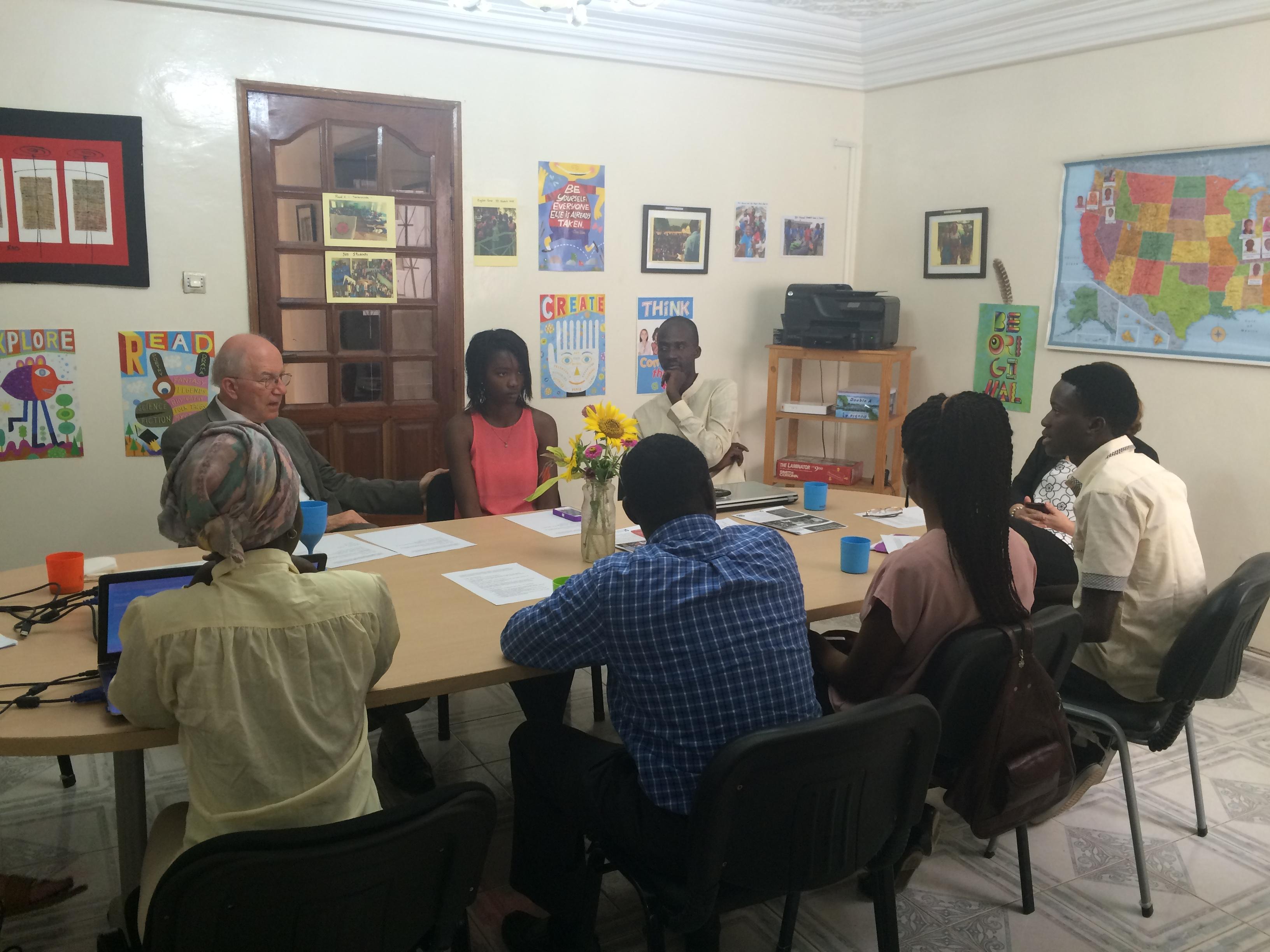 Senegal Ac President Meets Yes Alumni 1