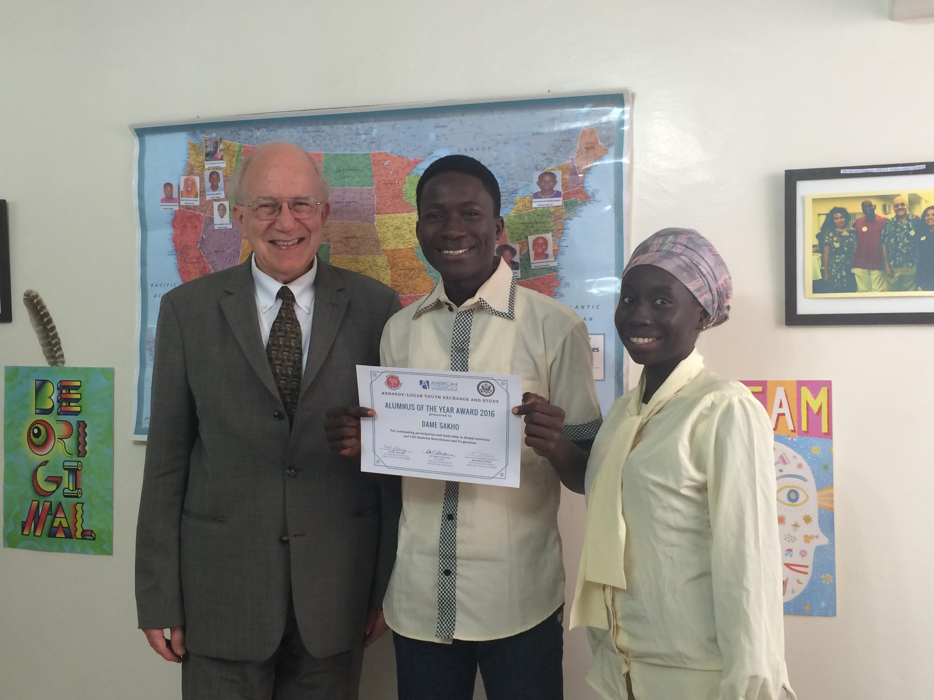 Senegal Ac President Meets Yes Alumni