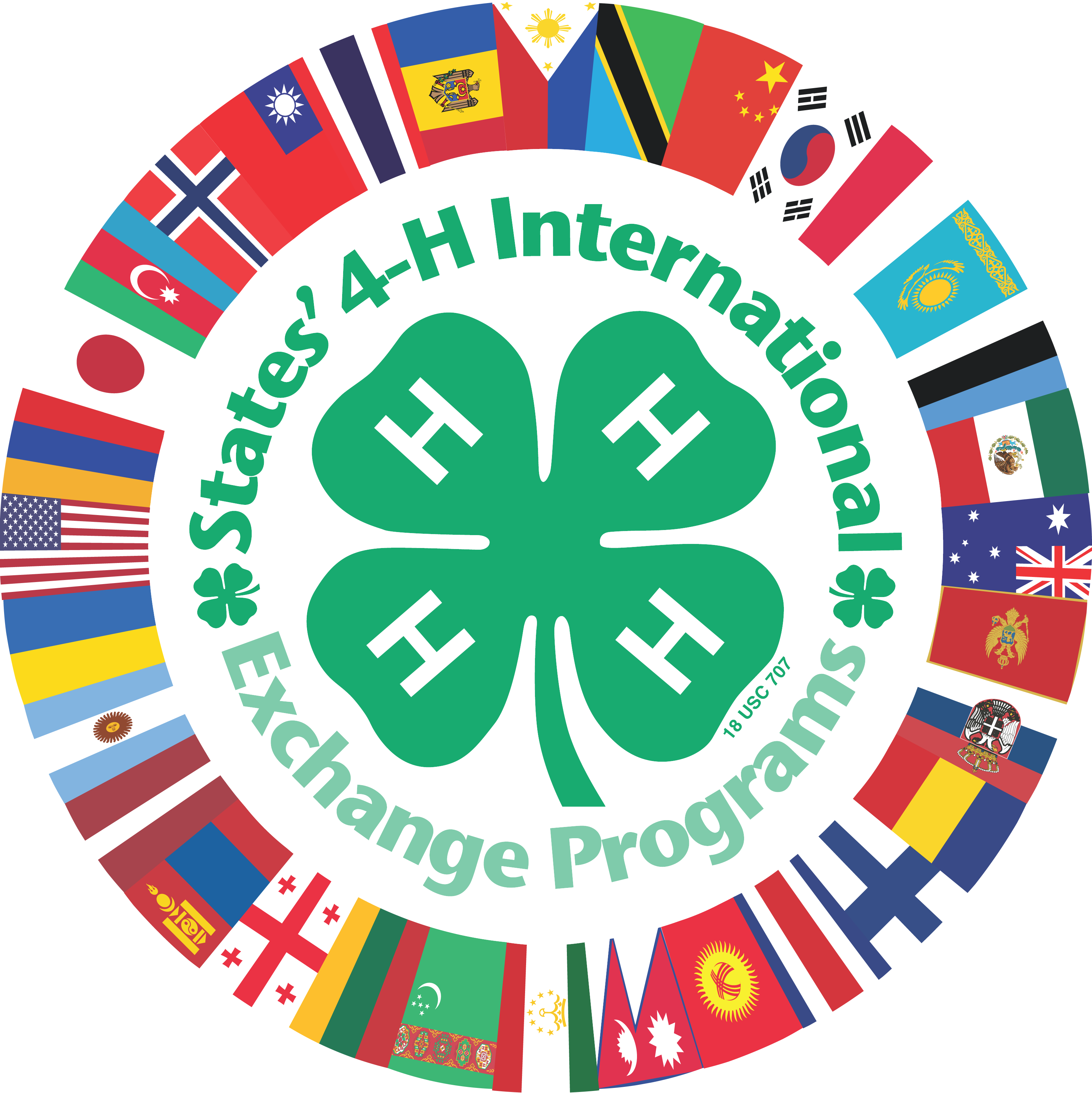 States 4 H 32 Flags Logo Center Fill