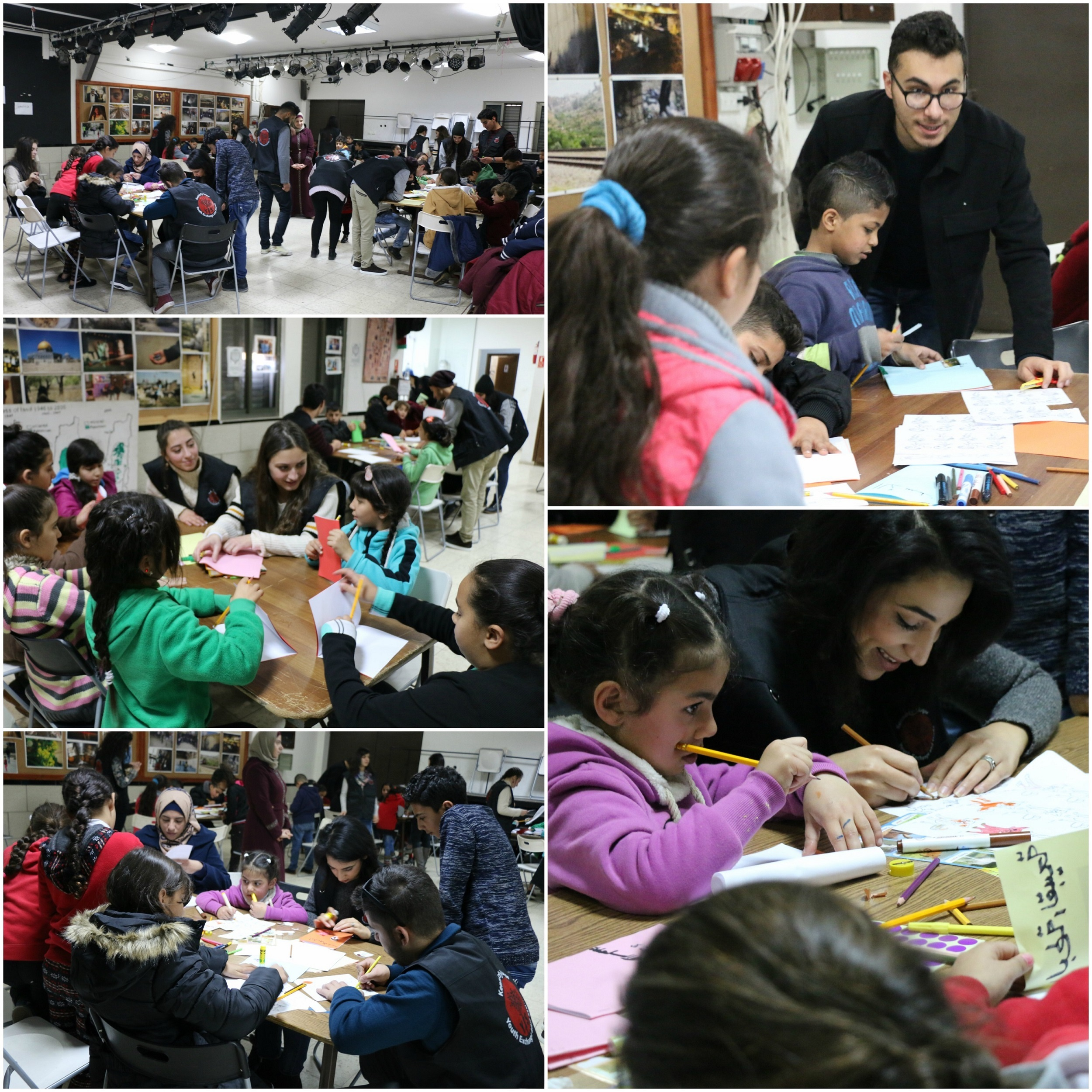 The Kids Working On Creating Their Short Stories While The Alumni Help Them With Whatever They Need