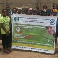 YES Alum Led Women's Empowerment Project in Nigeria