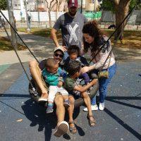 Smiling Children in Tel Aviv