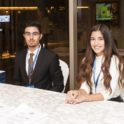 Abdulaziz Al Haddad Yes 2015 2016 And Reem Al Khashti Yes 2015 2016 Welcomed Guests At The Registration Table