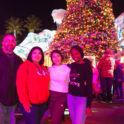 Amada And Host Family In Front Of Christmas Tree