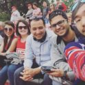 At A Football Game At Wpi With Friends Third From The Right