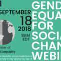 Gender Equality Webinar