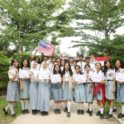 Ina Article Classmates And Flag