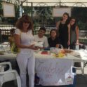 Kosova Sweet Tooth Booth Left To Right Shpresa Gashi Artist Andi Jashari Yes 16 Rona Preteni Yes 16 Rine Fetahu Yes 14 And Anita Maloku Volunteer