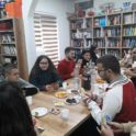 Kosova Students Playing Boarding Games In American Corner Prizren During Thanksgiving Activity