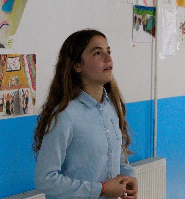 Girl Reciting