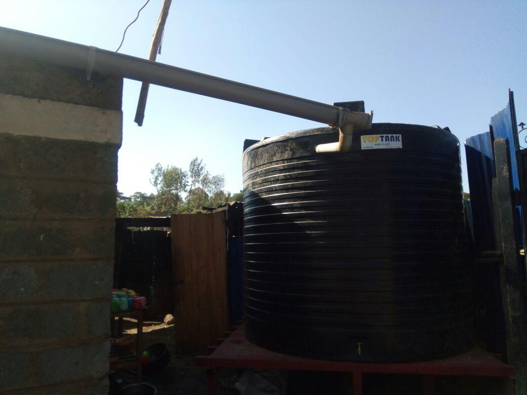 Water Tank Installed